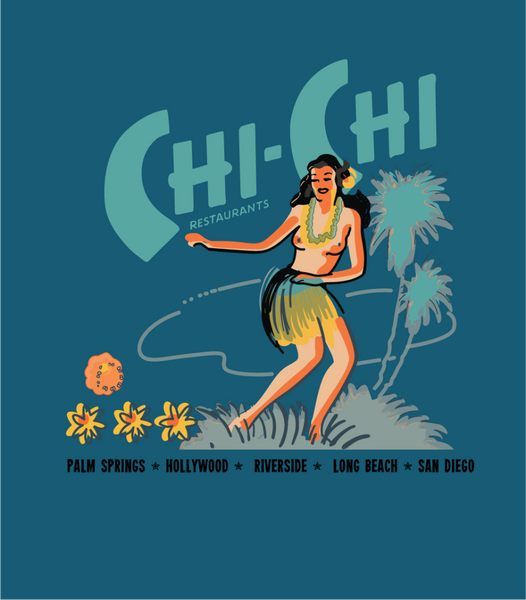 Chi Chi Tiki Bar Restaurant  Vintage Advertising Art Unisex Shirt