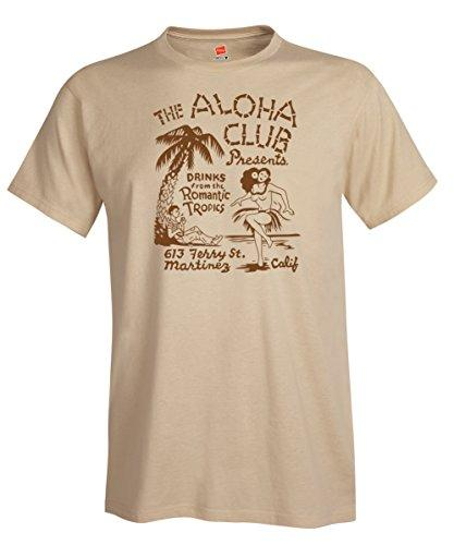 Aloha Club Tiki Bar Vintage Advertising Matchbook Art Reproduction T-Shirt