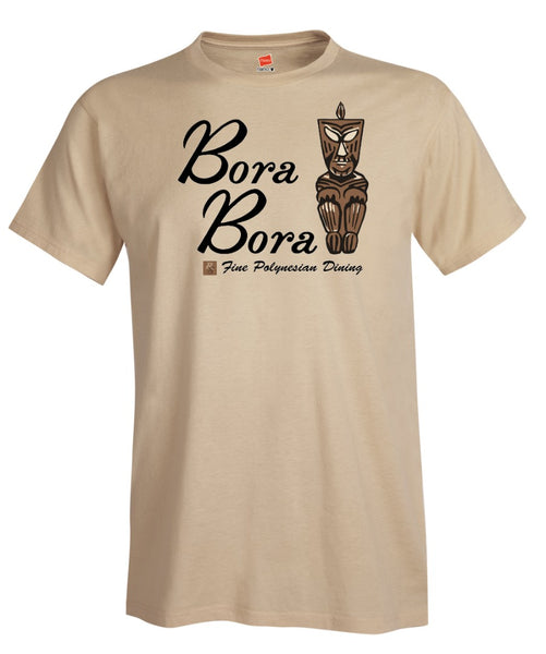 Bora Bora Tiki Bar Restaurant Matchbbok Art T-Shirt