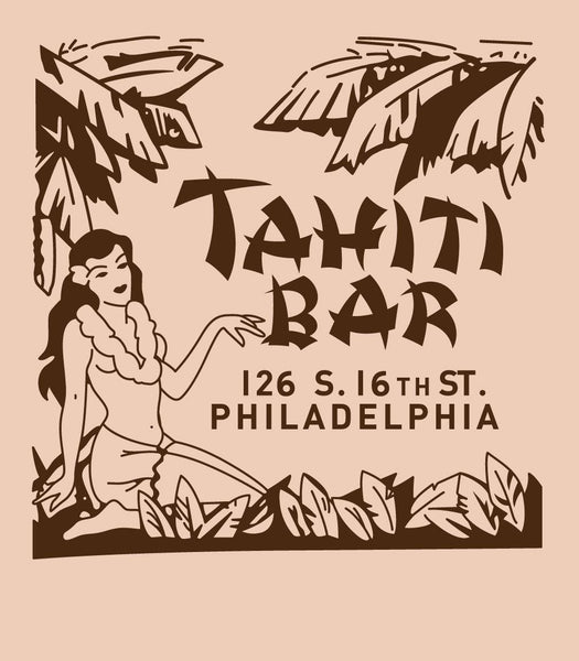 Tahiti Bar Philadelphia Matchbook Vintage Advertising Tiki Bar T-Shirt