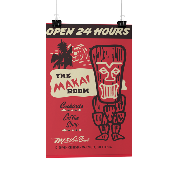 Makai Room Matchbook Reproduction Poster