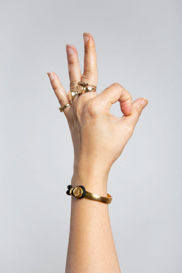 HOOK Bracelet Gold&Black צמיד הוק שחור וזהב