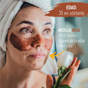 Arcilla Facial LET'S FACE IT ROJA (Piel madura)