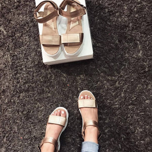 Sneakers sandals oro rosa