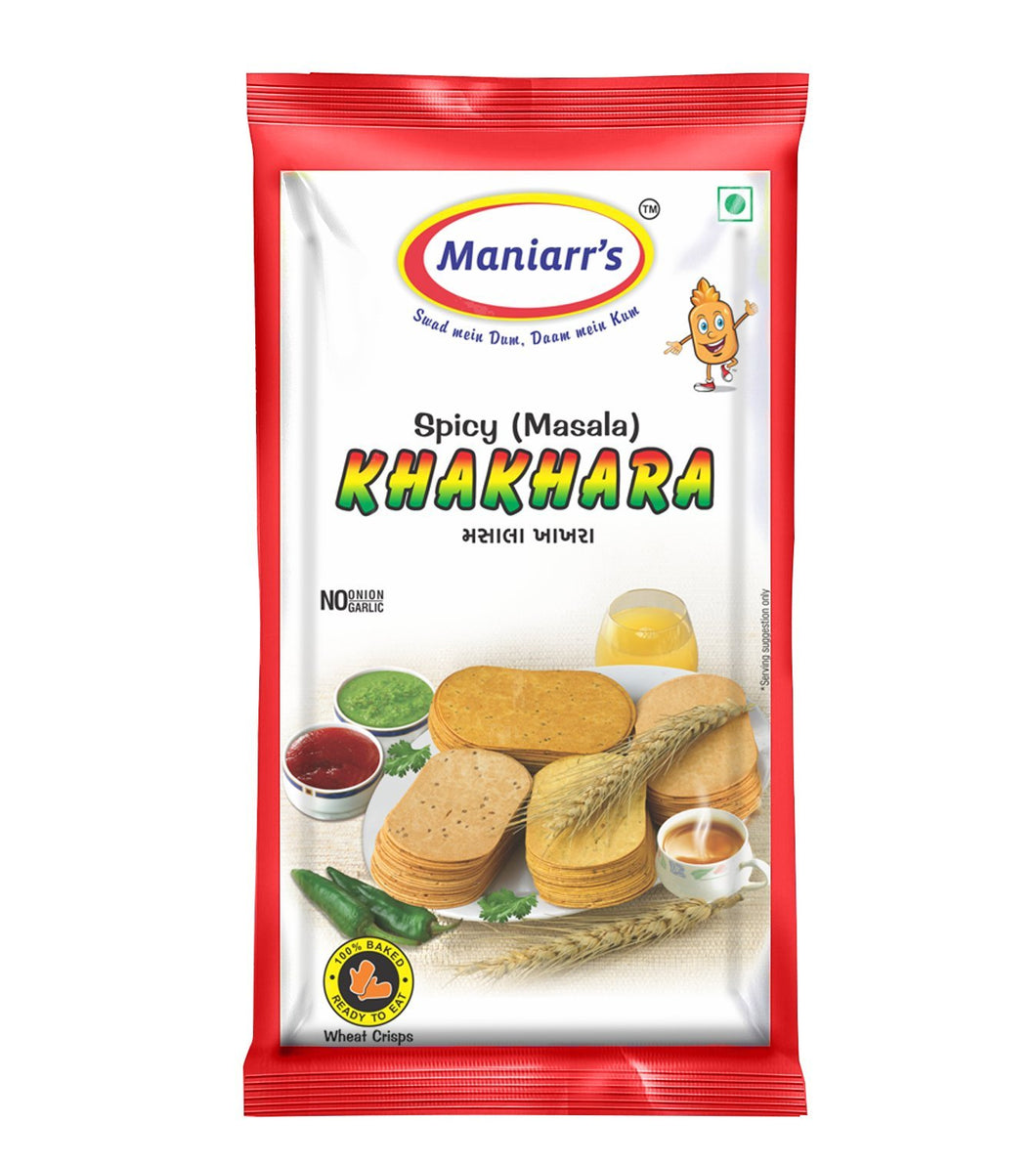 Maniarr‰۪s MASALA Khakhra (8 packs, Single Flavor, 360 gms), (Quick Masala Snacks)