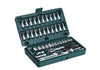 "452 -46pcsMetal 1/4"" Socket Set (Black, 46pcs)"