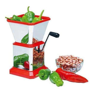 084 Stainless Steel Vegetable Cutter Chopper (Chilly Cutter)