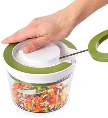 079 Manual 2 in 1 Handy smart chopper for Vegetable Fruits Nuts Onions Chopper Blender Mixer Food Processor