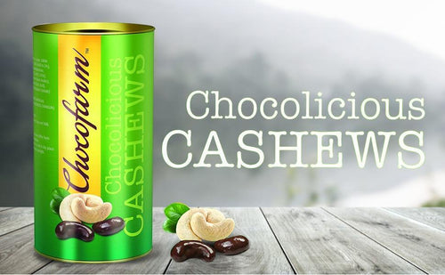 Chocofarm chocolate confection coated (covered)Roasted crunchy  Cashew