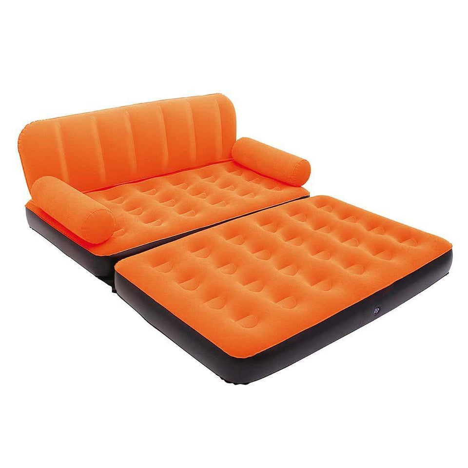 870 -5 in 1 Foldable Inflatable Multi Function Double Air Bed Sofa Chair Couch Lounger Bed Mattress with Air Pump