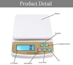 869 Atom A122 Electronic Kitchen Digital Weighing Scale (SF-400A), White