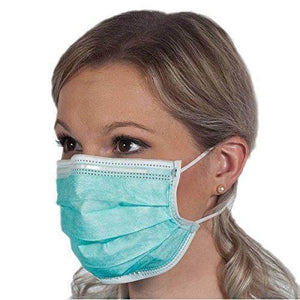 387 Plastic Disposable Ear Loop Elastic 3 Layer Face Mask (Blue)