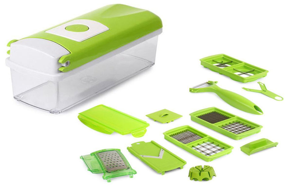 108 Multipurpose Vegetable and Fruit Chopper Cutter Greater Slicer 12 in 1