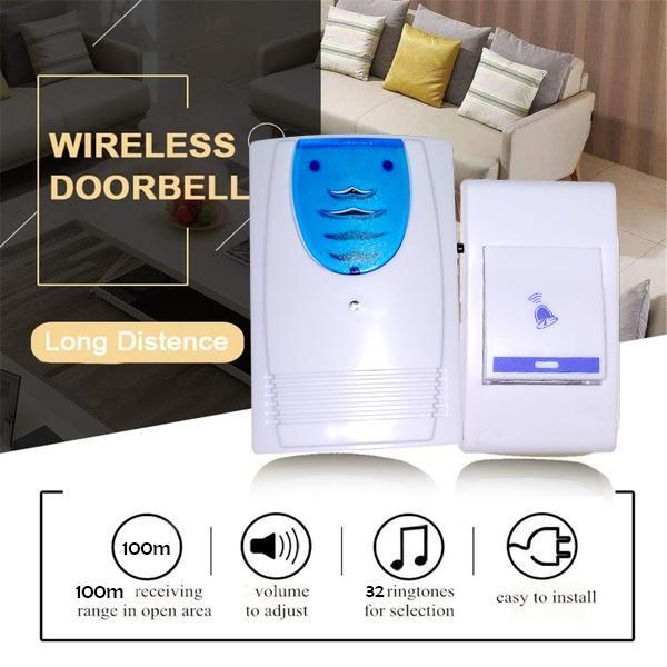 259 Musical Sound Cordless Square Doorbell, 32 Melody