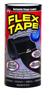 "453 Tapes, Adhesives & Sealers - Rubberized Waterproof Flex Tape (Size - 7.2"") (Black)"