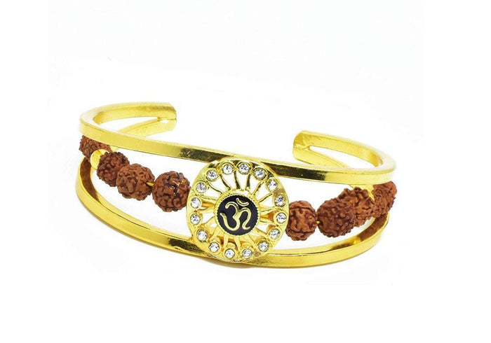 RK03- Unique & Stylish Brass Gold Plated Bracelet for Men / Women (RK03)