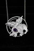 Load image into Gallery viewer, Kamama Magical Butterfly Elephant Amethyst Necklace