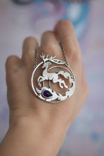 Load image into Gallery viewer, Magical Deer Amethyst Necklace