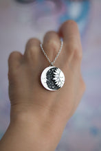 Load image into Gallery viewer, Small Dreamy Moon & Sun Necklace