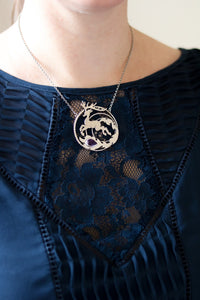 Magical Deer Amethyst Necklace