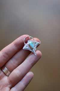 Graceful Guardian #4 - Manta Ray Turquoise Necklace