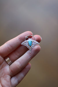 Graceful Guardian #11 - Manta Ray Turquoise Necklace