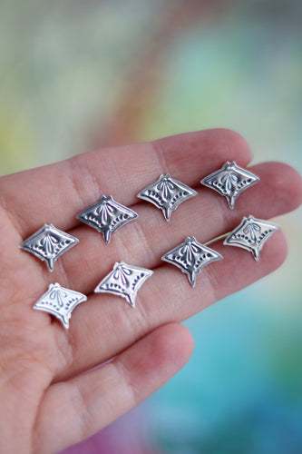 Graceful Guardian Silver Stud Earrings
