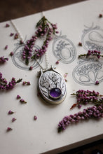 Load image into Gallery viewer, IRIS Amethyst Embroidery Hoop Necklace