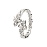 Sterling Silver Trinity Knot Twist Ring