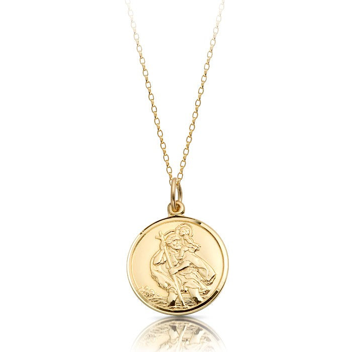 9ct St Christopher Medal & Chain