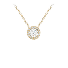 9ct Yellow Gold CZ Pendant Necklace