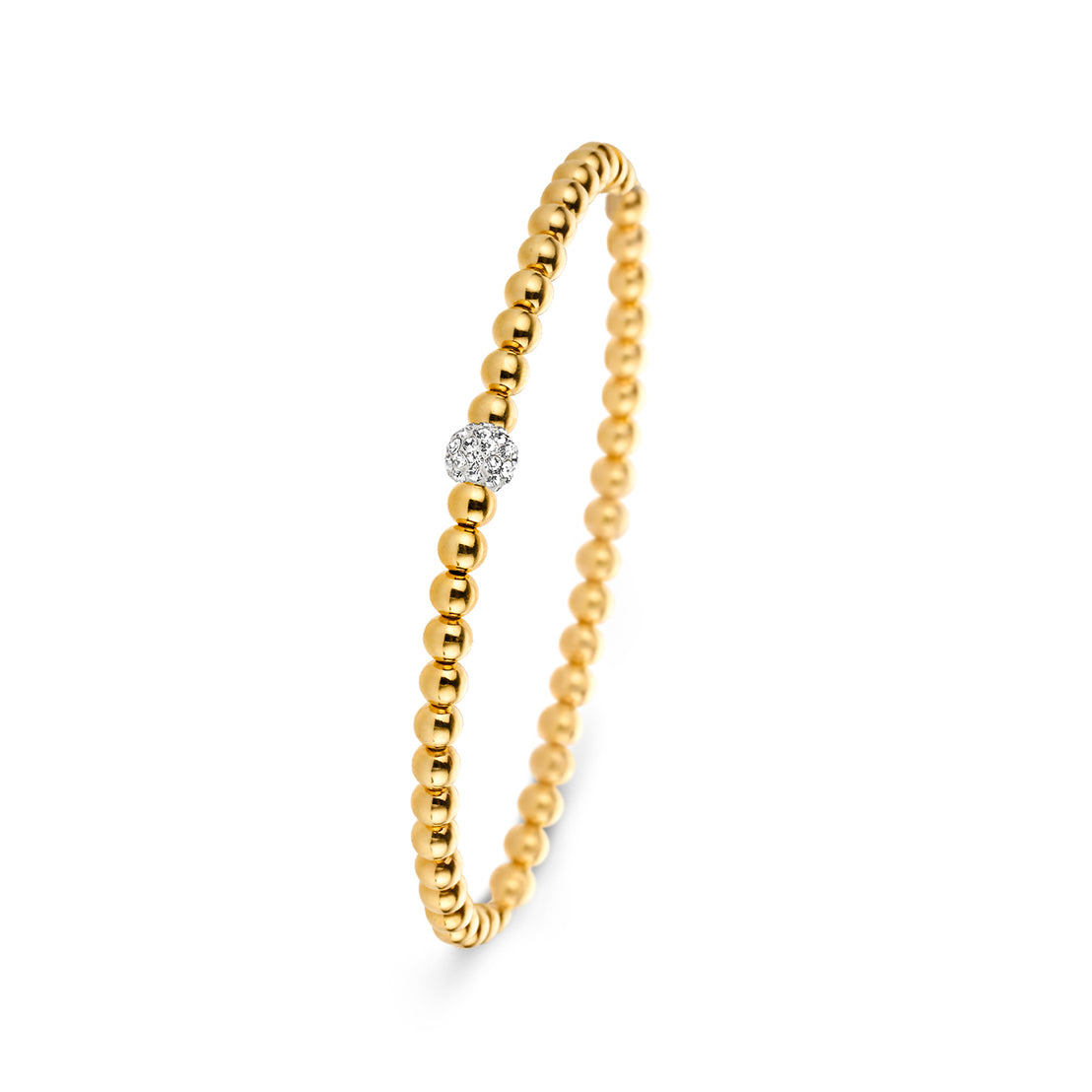 Moments Yellow Gold 1 Stone Bracelet
