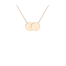 9ct Rose Gold Double Disc Necklace