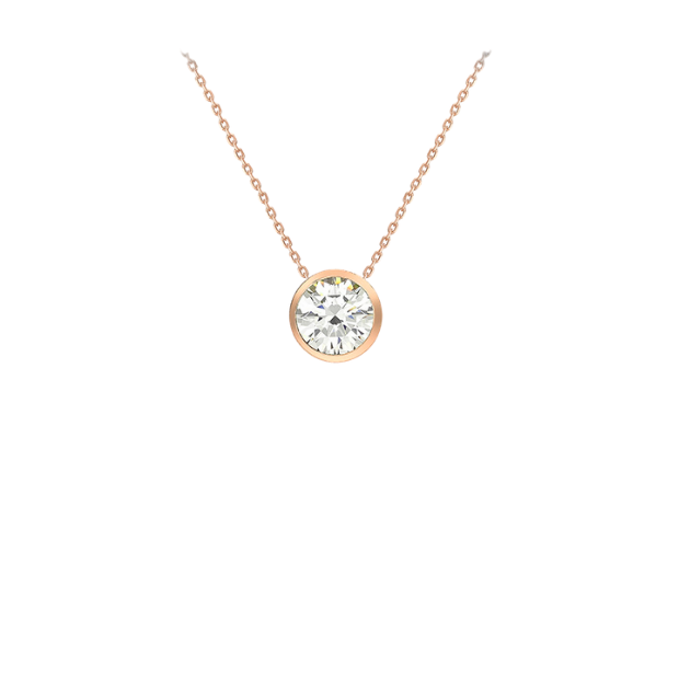 9CT ROSE GOLD CZ SLIDER NECKLACE