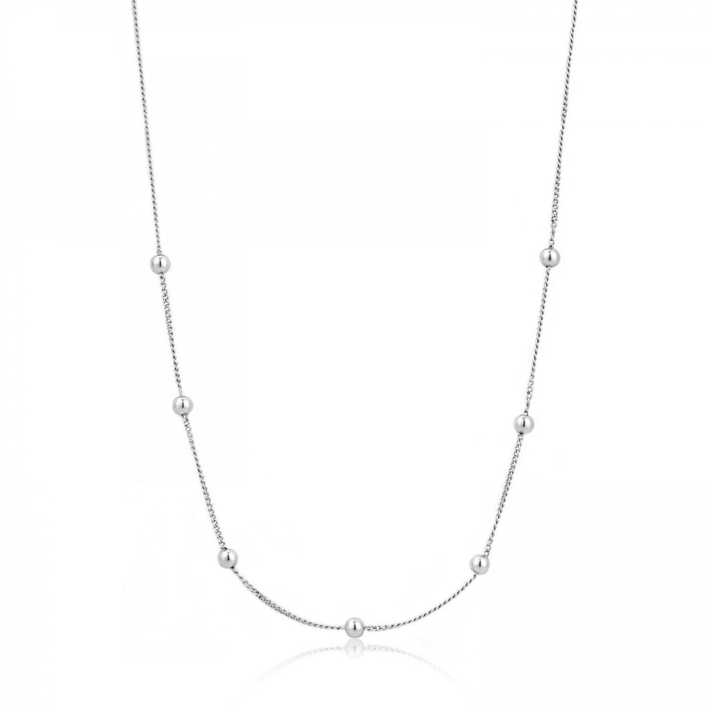 Ania Haie Modern Beaded Silver Necklace