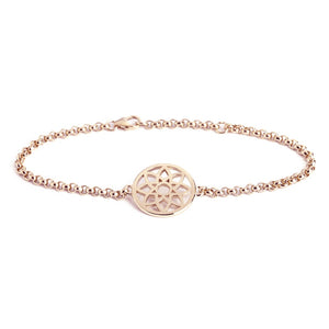 Muru Rose Gold Prosperity Dreamcatcher Bracelet