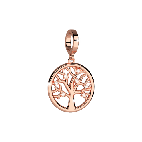 Rebecca Rose Gold Tree Of Life Charm