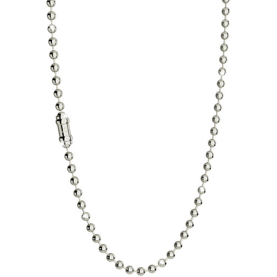 Rebecca Silver Large Bead Necklace