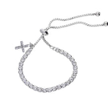 First Communion Tennis Bracelet & Cross Charm
