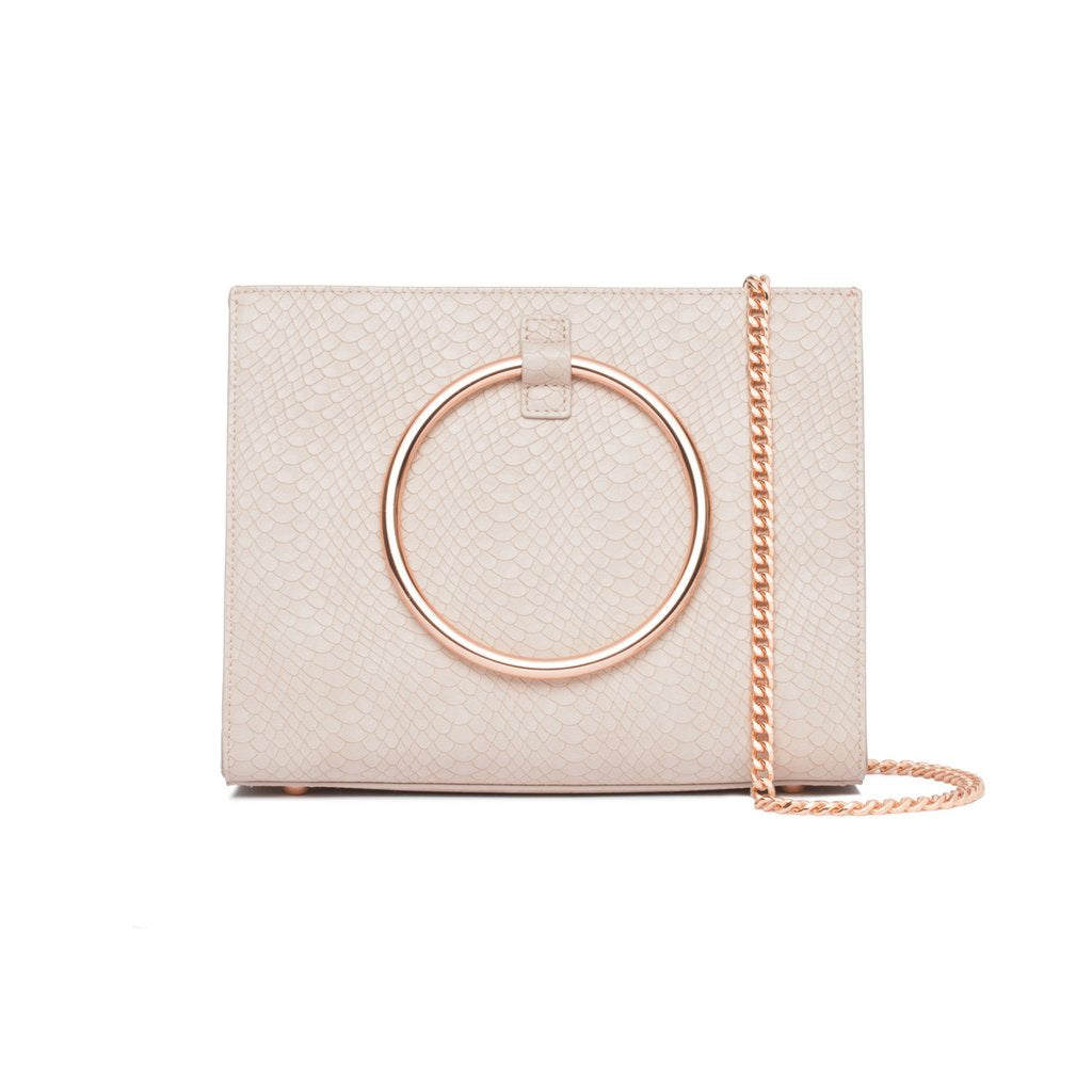 CRISTALLO CREAM HANDBAG