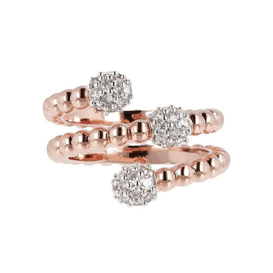 Rose Gold Torchon Ring