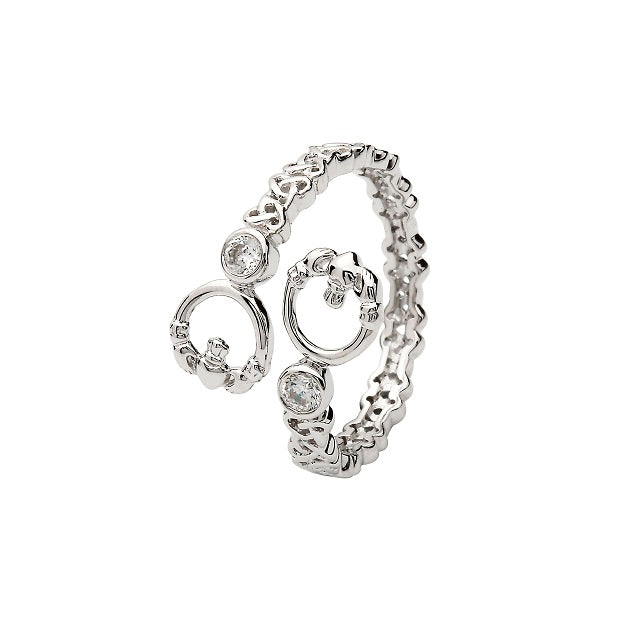 Sterling Silver Claddagh Twist Ring