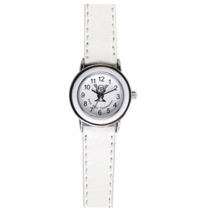 First Holy Communion White Leather Strap Watch