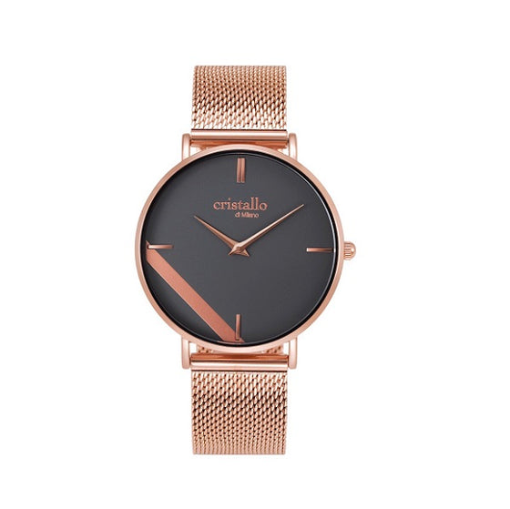 Cristallo di Millano Rose Gold And Grey Dial Watch