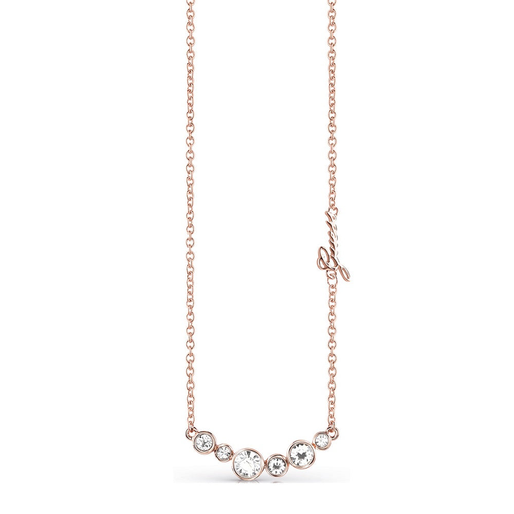 Guess Rose Gold Crystal Beauty Necklace