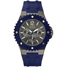 Gents Guess Blue Strap Watch