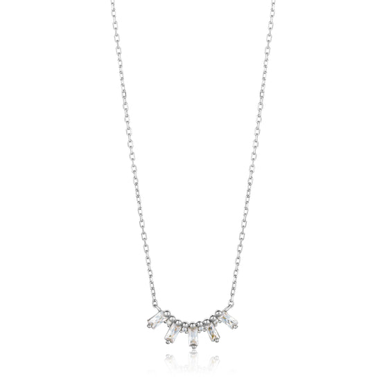 "ANIA HAIE ""SILVER GLOW SOLID BAR"" NECKLACE"