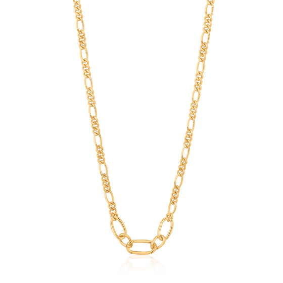 "ANIA HAIE ""GOLD FIGARO CHAIN"" NECKLACE"