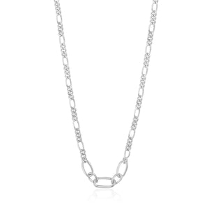 "ANIA HAIE ""SILVER FIGARO CHAIN"" NECKLACE"