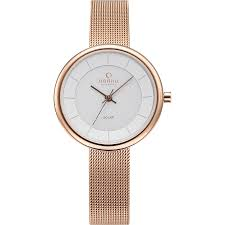 Obaku Lys Rose Ladies Rose Gold Solar Watch 206LRVWMV